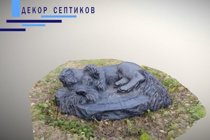 Искусственная крышка Пёс-Барбос на люк