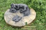 Декоративная накладка Дружок на бетонное кольцо